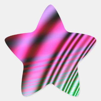 Pasado y presente pegatina en forma de estrella