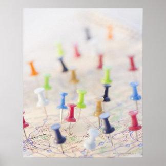 Pasadores en un mapa 2 impresiones
