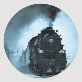 Pasajero pacífico del vapor de Missouri ciánico Pegatina Redonda