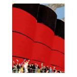 Pasajeros del barco de cruceros del vintage que ag postales