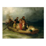 Pasajeros emigrantes a bordo, 1851 tarjeta postal
