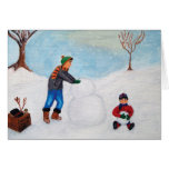 """Pasando un día de la nieve así como """"buenas fiesta tarjeta de felicitación"""