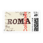 Pasaporte a Roma C de Ceci Nueva York Timbre Postal