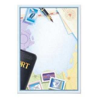 """Pasaporte al © del destino invitación 5"""" x 7"""""""
