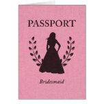 Pasaporte de la dama de honor tarjeta pequeña