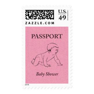Pasaporte de la fiesta de bienvenida al bebé sello