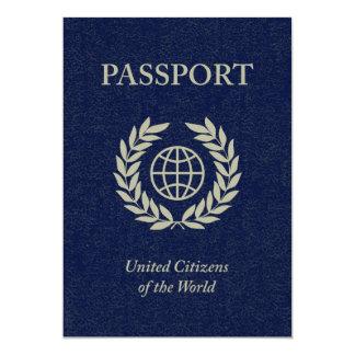 """pasaporte de la marina de guerra invitación 5"""" x 7"""""""
