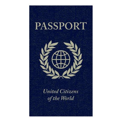 pasaporte de la marina de guerra tarjetas de visita