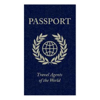pasaporte de los agentes de viajes tarjetas de visita