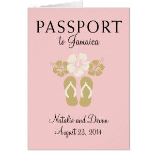Pasaporte del boda de Ocho Rios Jamaica Felicitacion