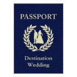 pasaporte del boda del destino invitaciones personales