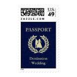 pasaporte del boda del destino sello