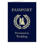 pasaporte del boda del destino tarjeta pequeña