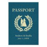 pasaporte del boda invitacion personalizada