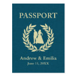 pasaporte del boda postal
