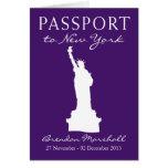 Pasaporte del cumpleaños de New York City Tarjeta Pequeña