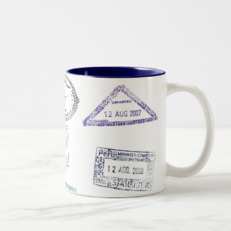 pasaporte del sello tazas