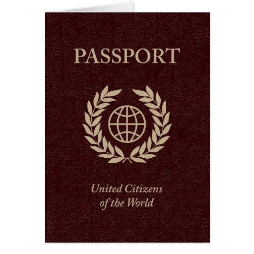 pasaporte marrón felicitación
