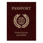 pasaporte marrón postal