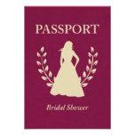 Pasaporte nupcial de la ducha comunicado