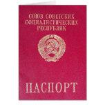 Pasaporte soviético tarjetón