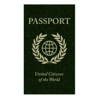pasaporte tarjetas de negocios