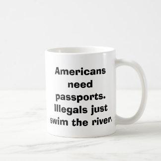 Pasaportes de la necesidad de los americanos. Ille Taza De Café