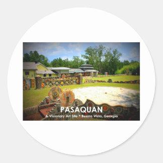 PASAQUAN - A Visonary Art Site - Buena Vista, GA Classic Round Sticker