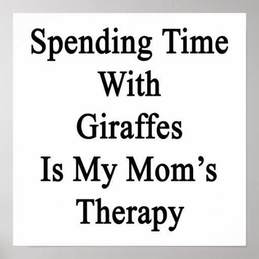 Pasar tiempo con las jirafas es el Therapy.pn de m Póster