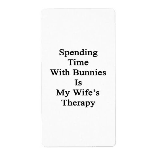Pasar tiempo con los conejitos es la terapia de mi etiquetas de envío