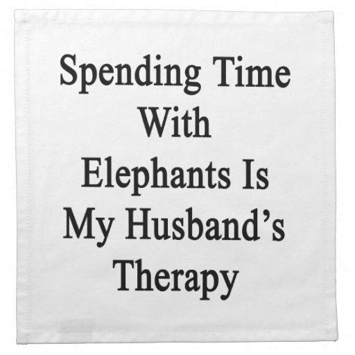 Pasar tiempo con los elefantes es Thera de mi mari Servilleta De Papel
