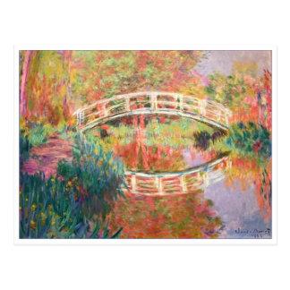 Pasarela japonesa, Giverny de Claude Monet Tarjeta Postal