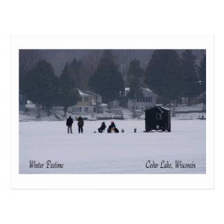 Pasatiempo del invierno de Wisconsin Tarjeta Postal