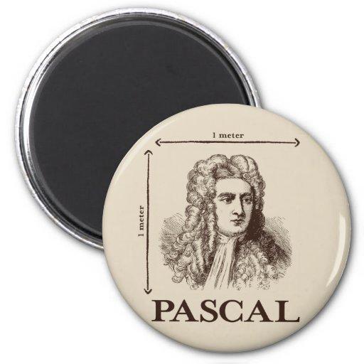 Pascal = 1 neutonio por chiste de la matemáticas d imán redondo 5 cm