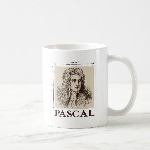 Pascal = 1 neutonio por chiste de la matemáticas d taza