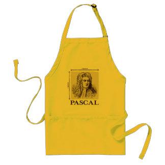 Pascal = 1 newton per square meter math joke adult apron