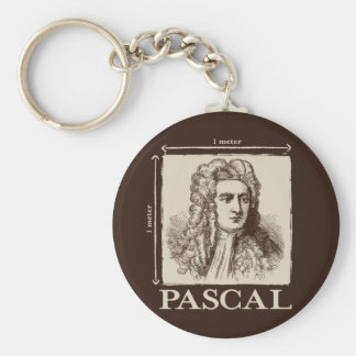 Pascal = 1 newton per square meter math joke basic round button keychain