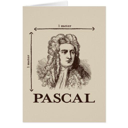 Pascal = 1 newton per square meter math joke cards