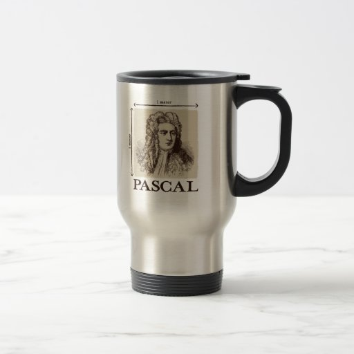 Pascal = 1 newton per square meter math joke mug