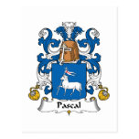 Pascal Family Crest Post Card