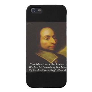 """Pascal """"Learn Limitations"""" Wisdom Quote Gifts Case For iPhone 5"""