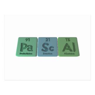 Pascal-Pa-Sc-Al-Protactinium-Scandium-Aluminium.pn Postcard