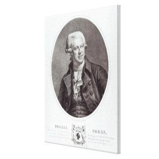 Pascal Paoli, 1872 Impresión En Lona Estirada
