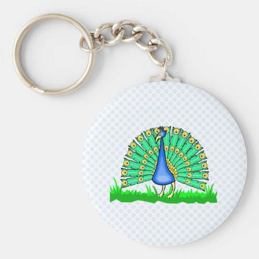 Pascal Peacock Key Chain