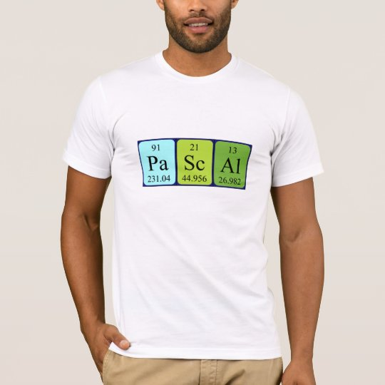 Pascal periodic table name shirt