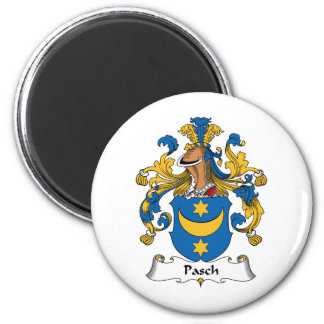 Pasch Family Crest 2 Inch Round Magnet