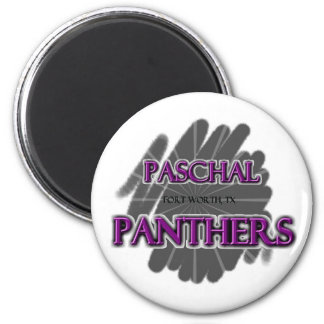 Paschal High School Panthers - Fort Worth, TX 2 Inch Round Magnet