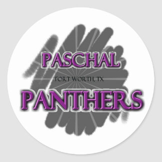 Paschal High School Panthers - Fort Worth TX Round Stickers