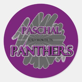 Paschal High School Panthers - Fort Worth TX Round Sticker