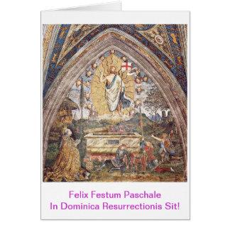 Paschalis Scida en Dominica Resurrectionis Tarjeta De Felicitación